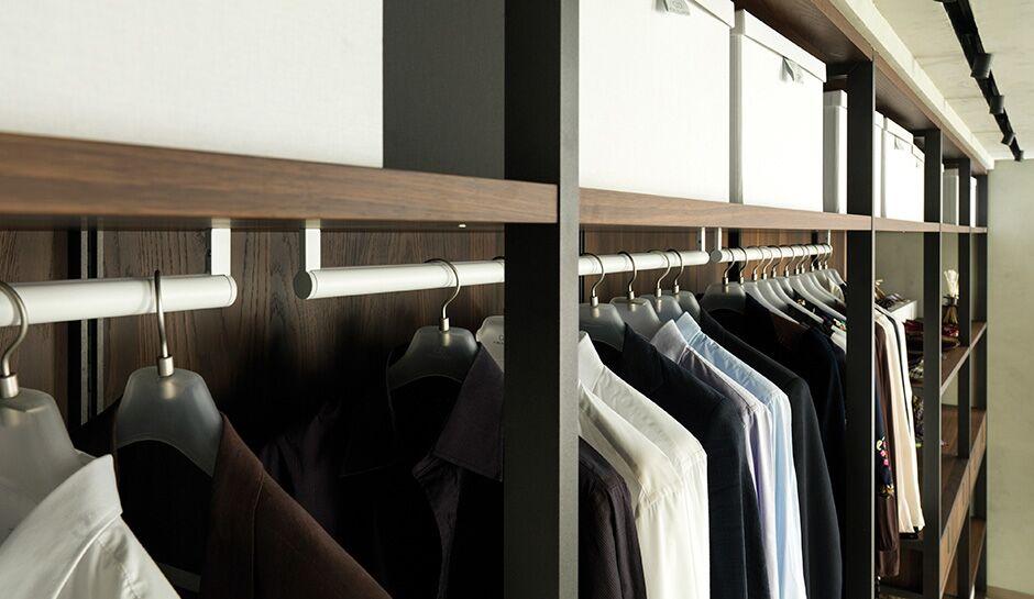 Closet system and organizer