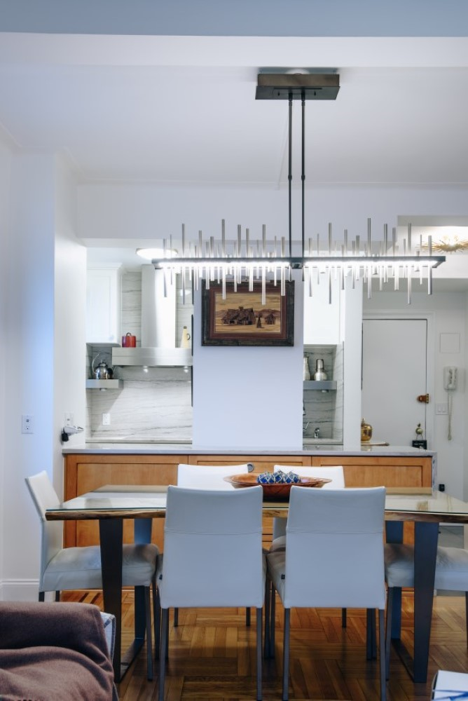 Contemporary Plain and Fancy kitchen cabinets