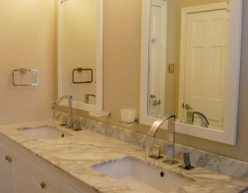 Contemporary bathroom marble countertop