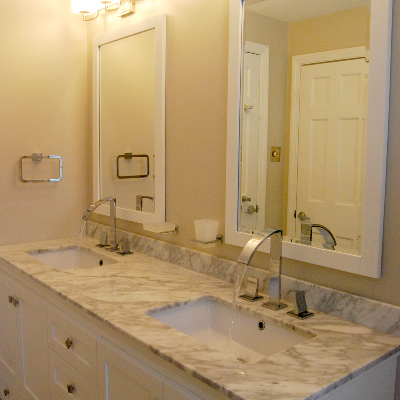 Contemporary bathroom marble countertop