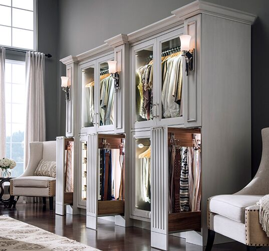 Elegant closet Pull out shelves