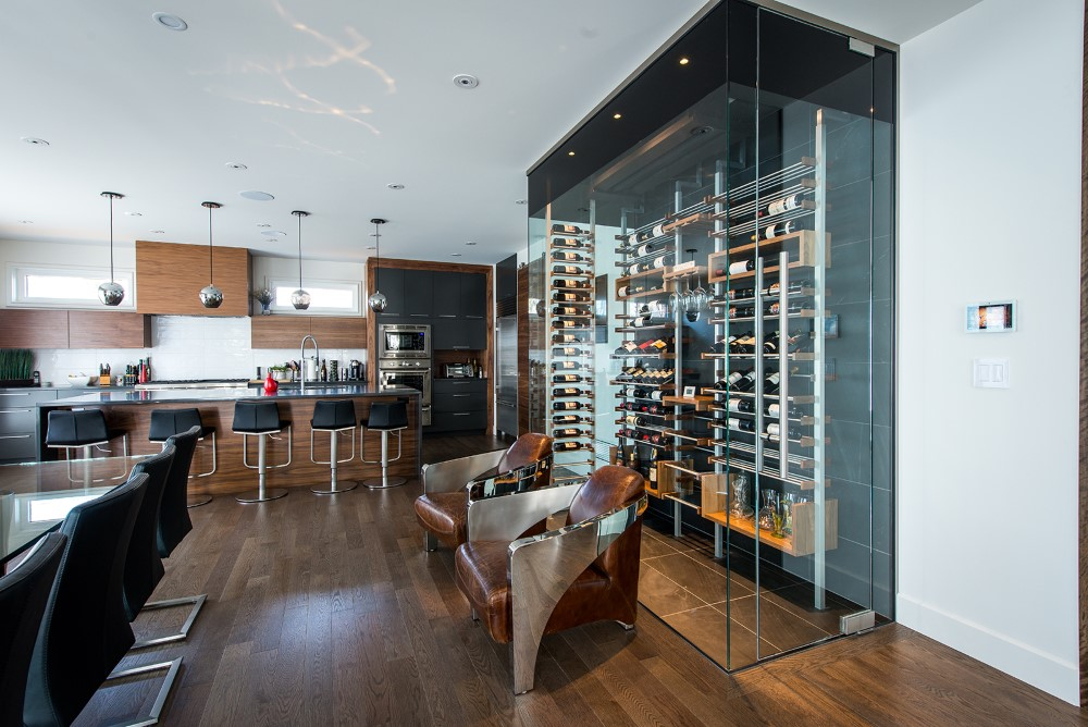 Milesime kitchen glass Wine Cellar