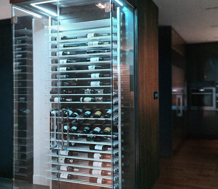 Millesime Contemporary kitchen glass Wine Cellar