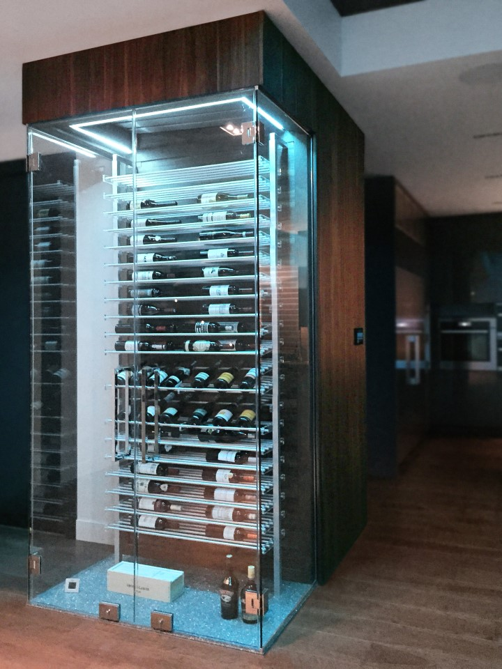 Millesime Contemporary kitchen glass Wine Cellar