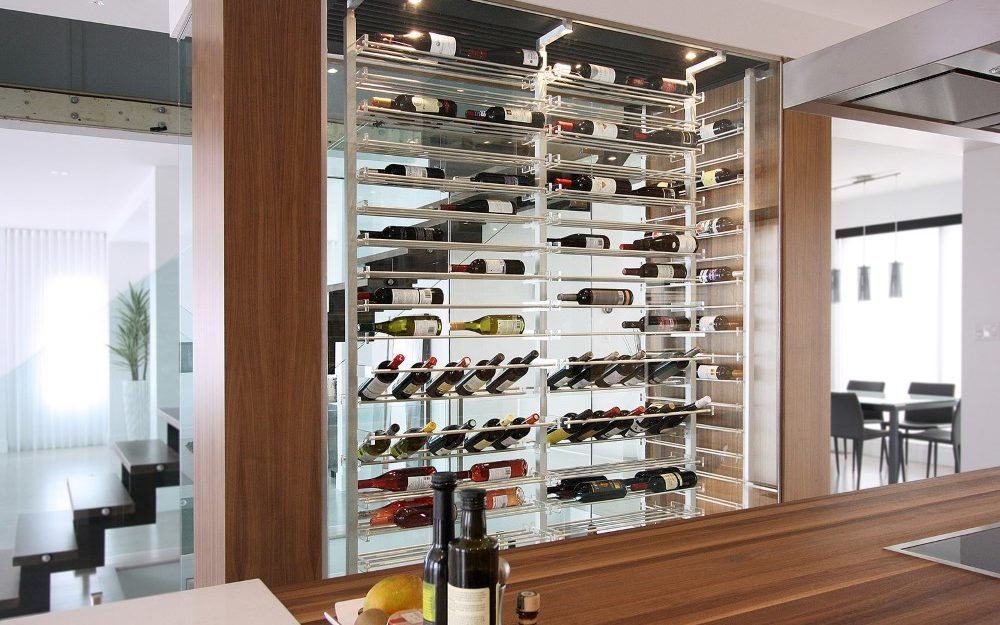 Millesime contemporary double sided Wine Cellar
