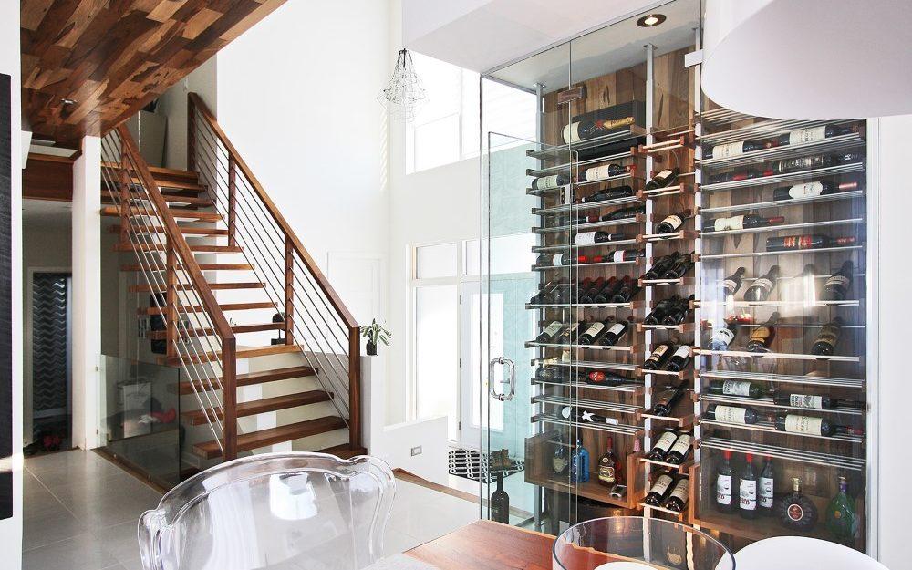 Millesime wood wall glass Wine Cellar