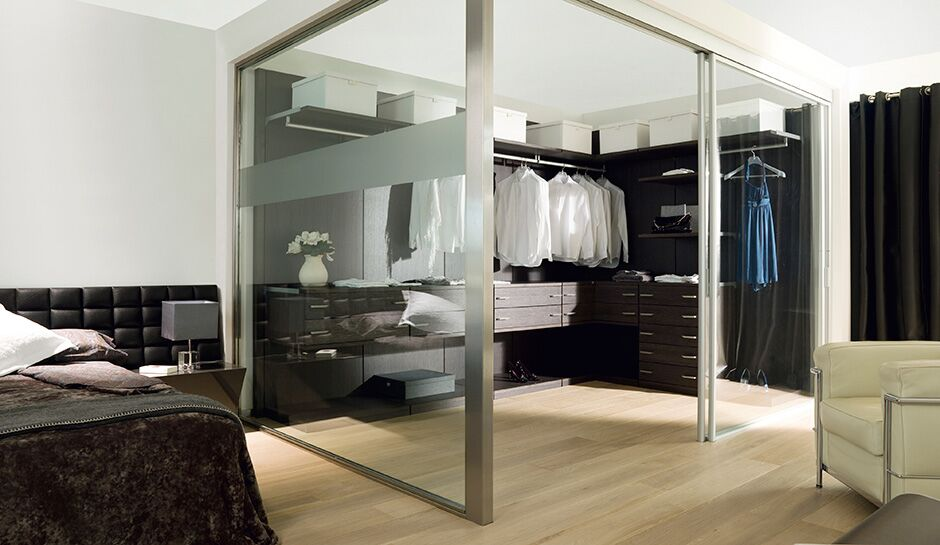 Modern Sliding glass door closet