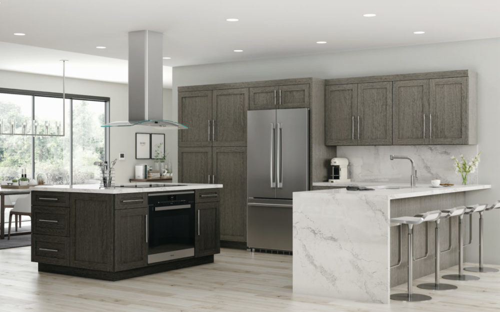Modern, white and sleek cabinets