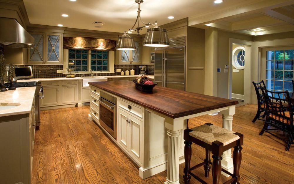 wood countertop, island top