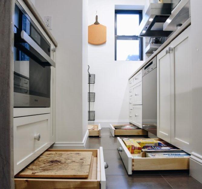 Plain and Fancy toe kick cabinet