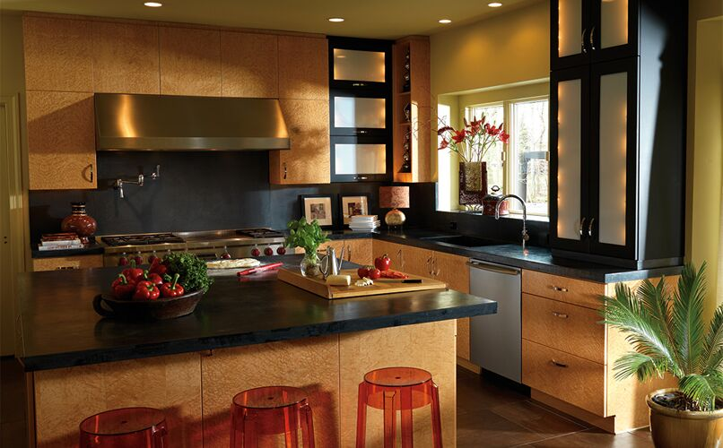 Plain and Fancy Contemporary kitchen cabinet