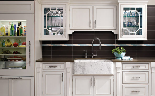 Plain and FancyWhite inset kitchen cabinet