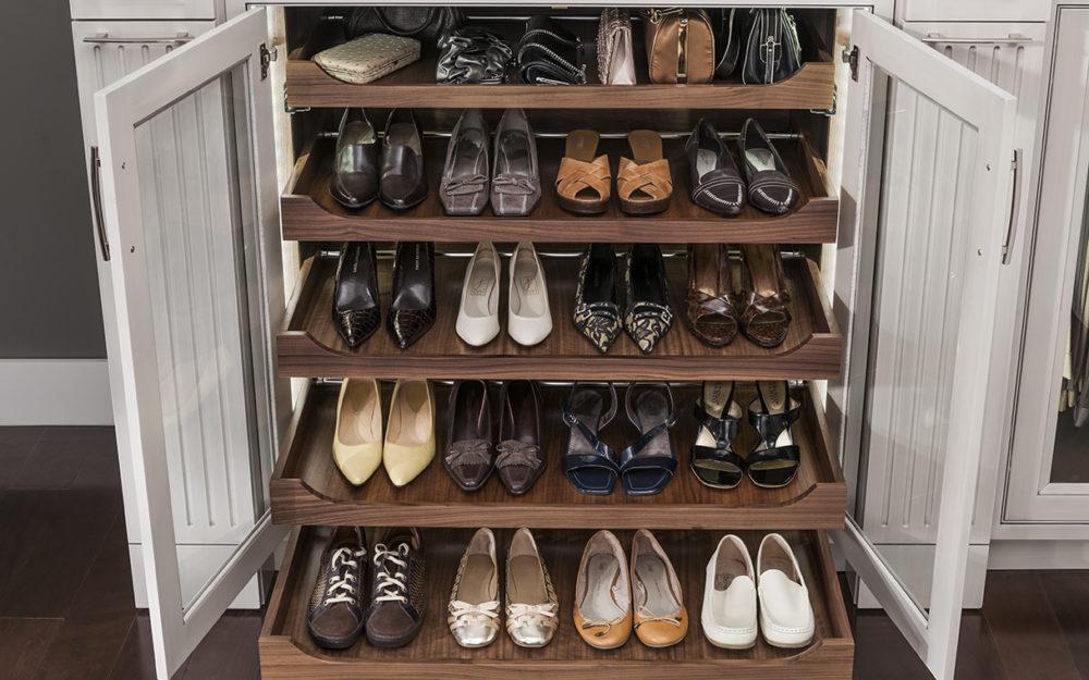 Shoe rack, Glass door