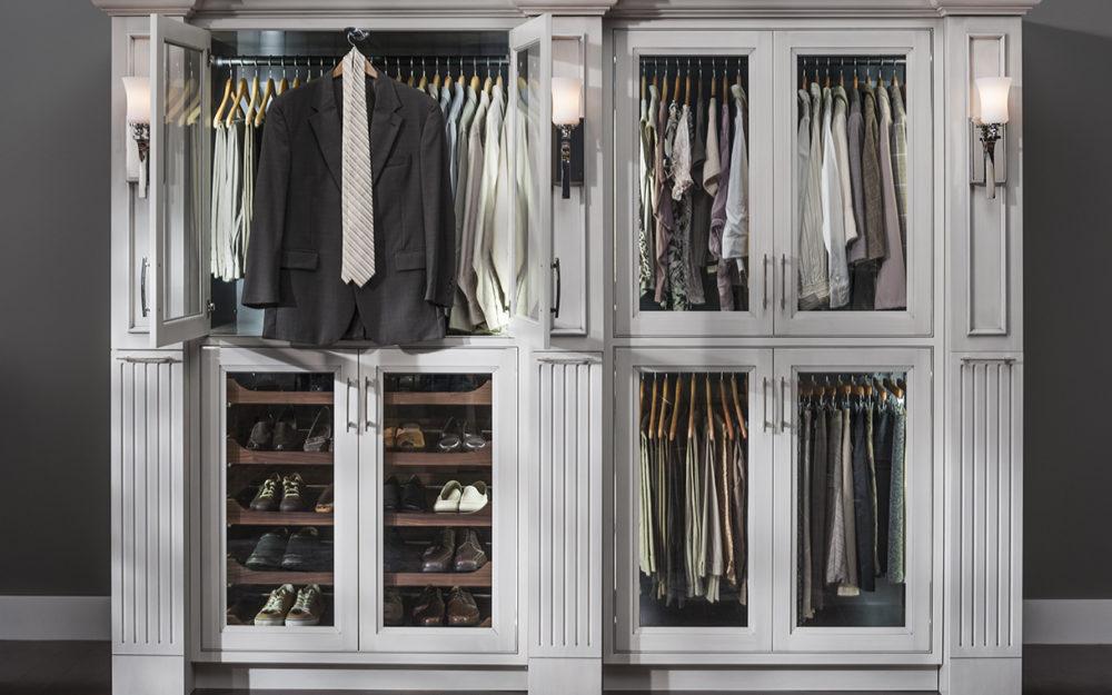 Sliding wardrobe road, glass door closet