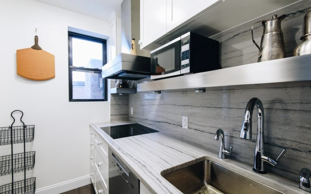 Stainless Steel Floating Shelves with brushed finish