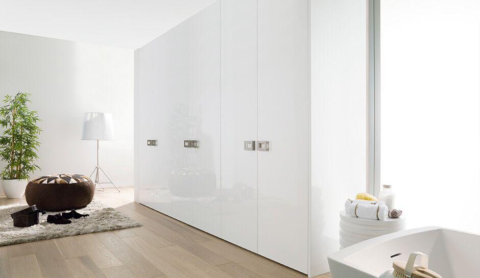 Stunning white glossy closet