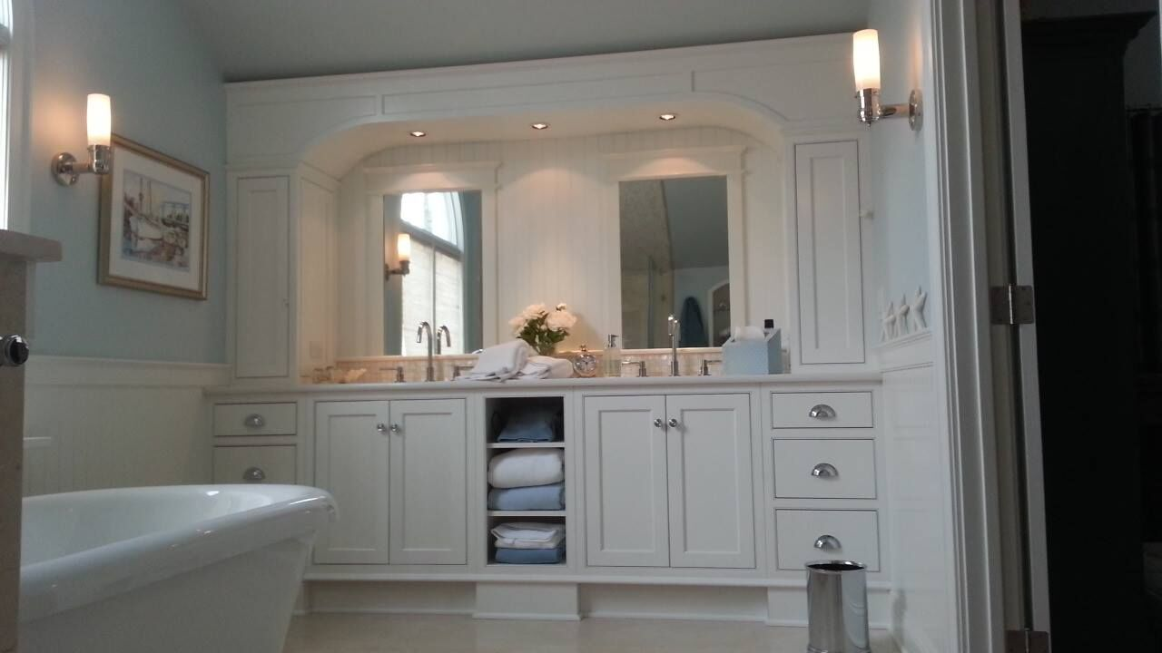 Traditional white inset cabinets