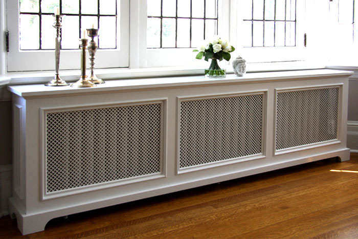 White Radiator Cover