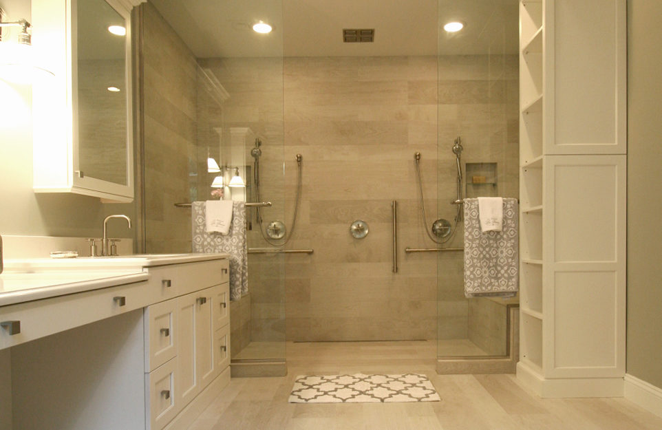 White overlay cabinets