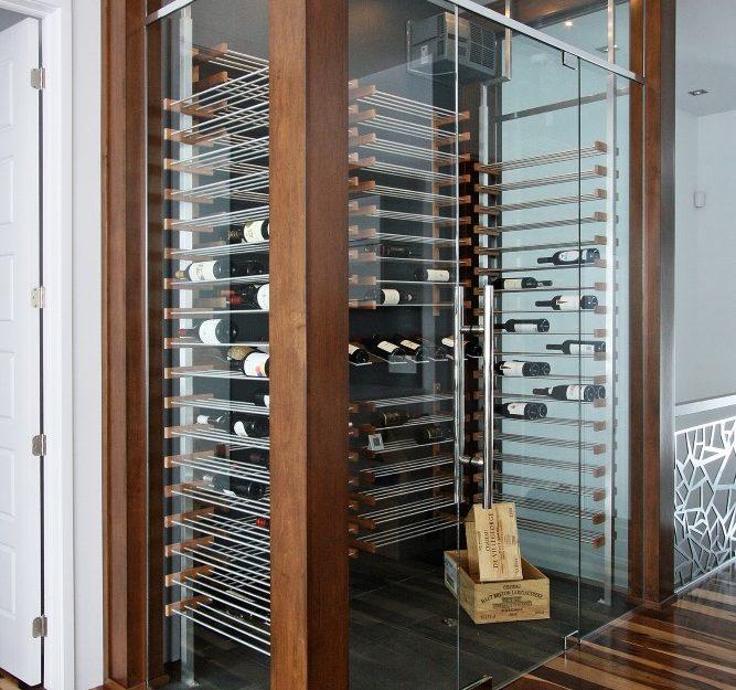 millesime transitional glass Wine Cellar