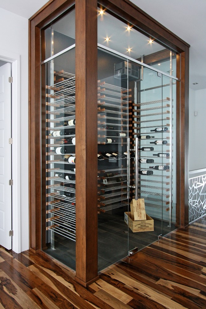millesime transitional glass Wine Cellar